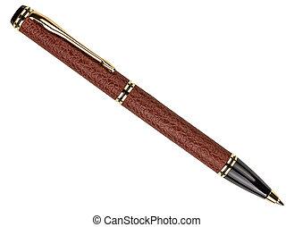 鋼筆, 白色, 泉水, 被隔离, 寫