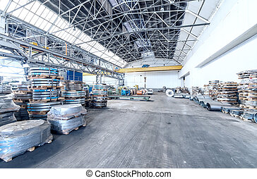 鋼鉄, コイル, 倉庫