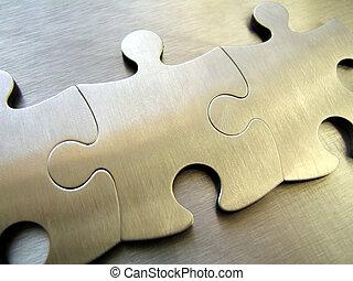 鋼鉄, ジグソーパズル