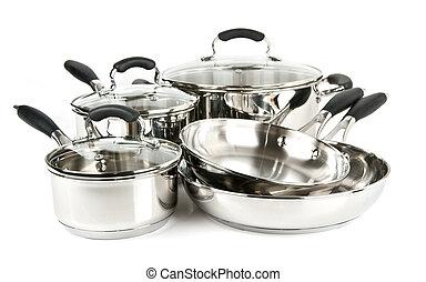 鋼鉄, ステンレス食器, ポット, パン