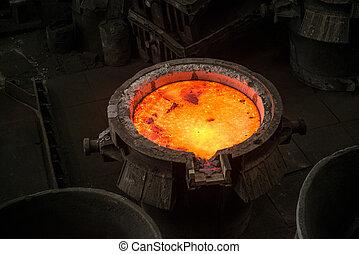 鋼鉄, タンク, 金属, 液体, 製粉所