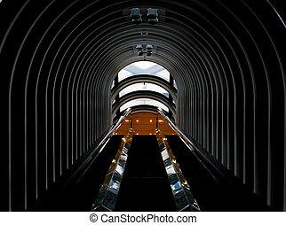 鋼鉄, トンネル, 建築, 背景 パターン