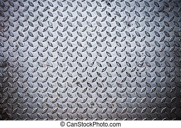 鋼鉄, プレート, ダイヤモンド, seamless, 手ざわり