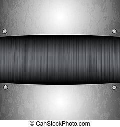 鋼鉄, プレート, 選択, ベクトル, あなたの, 最も良く, design.