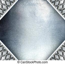 鋼鉄, プレート, 金属, バックグラウンド。