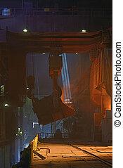 鋼鉄, ワークショップ, 工場