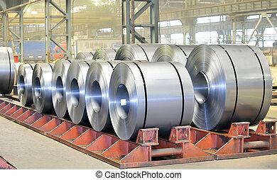 鋼鉄, 倉庫, シート, 回転する