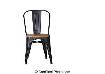 鋼鉄, 切り抜き, 黒, 道, 白, 椅子
