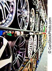 鋼鉄, 合金, ディスク, 自動車