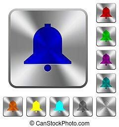 鋼鉄, 広場, 円形にされる, 鐘, ボタン, 単一