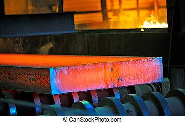 鋼鉄, 暑い, コンベヤー