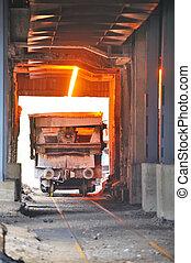 鋼鉄, 暑い, 交通機関, 溶けている