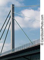 鋼鉄, 橋, パイロン