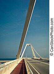 鋼鉄, 橋, 縦, 現代, –, 光景