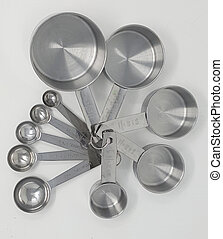 鋼鉄, 測定, セット, ステンレス食器, スプーン, カップ