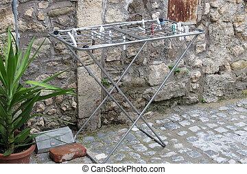 鋼鉄, 衣類の棚
