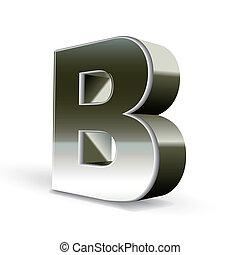 鋼鉄, b, 銀, 手紙, 3d