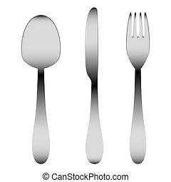 鋼鉄, cutlery