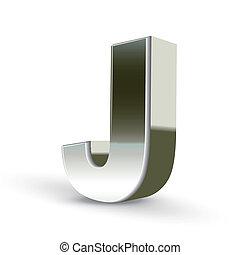 鋼鉄, j, 銀, 手紙, 3d