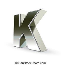 鋼鉄, k, 銀, 手紙, 3d