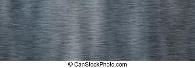 鋼鉄, texture., ブラシをかけられた金属