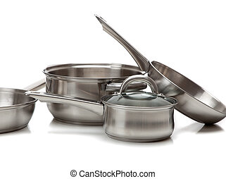 鋼, 不鏽純潔, 罐, 平底鍋