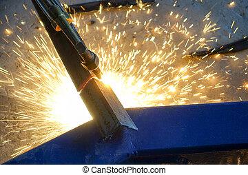 鋼, 切, 气体, 火炬