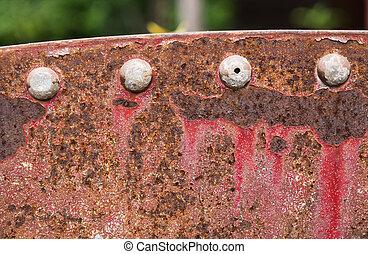 鋼, 盤子, 腐蝕, 鉚釘