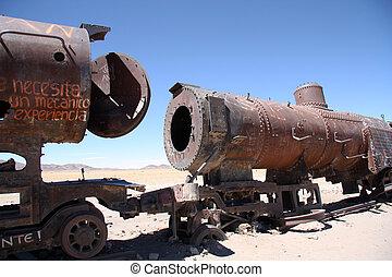 錆ついた, 古い bolivia, 蒸気機関車