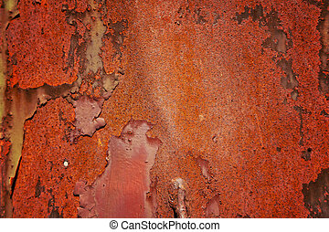 錆ついた, 赤, 金属