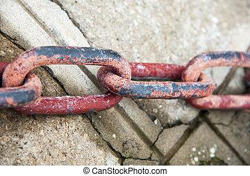 錆ついた, 赤, 鎖