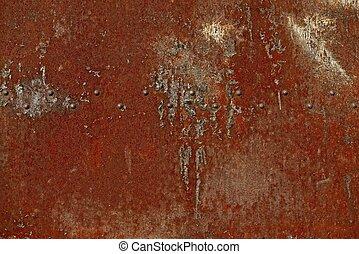 錆ついた 金属, 赤, 背景