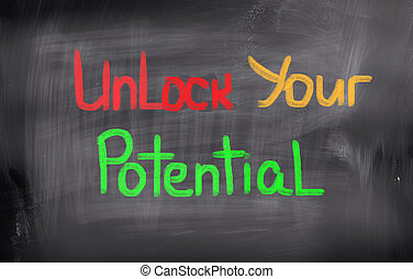 錠を開けなさい, あなたの, 潜在性, 概念