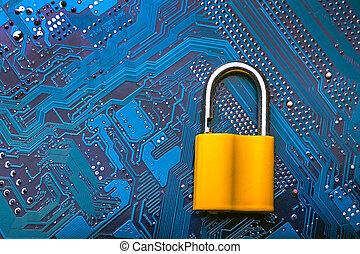 錠, イメージ, マイクロチップ, 金属, 背景