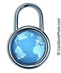 錠, セキュリティー, インターネット