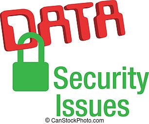 錠, セキュリティー, データ, 安全である, 問題
