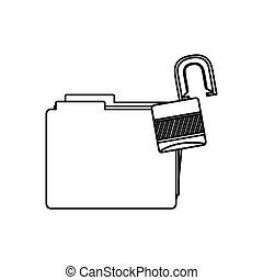 錠, ファイルを開けなさい, 数字, アイコン