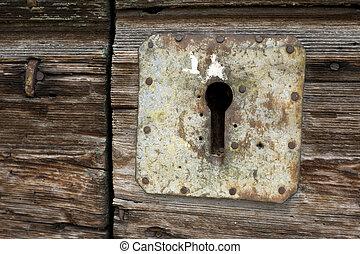 錠, 穴, ドアの キー
