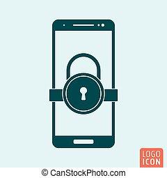 錠, smartphone, アイコン