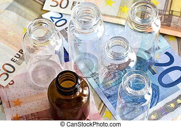 錢, 以及, 配藥, 產品