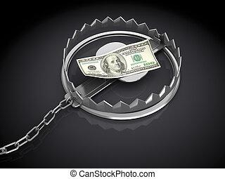 錢, 俘獲