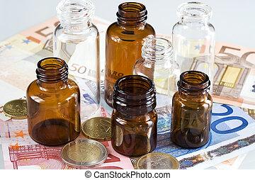 錢, 產品, 配藥