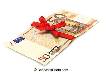 錢, 白色紅, 背景, 弓