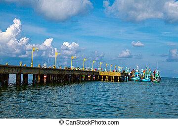 錨, ボート, 橋