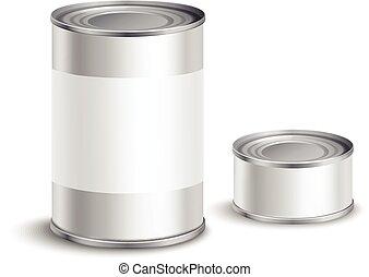 錫, セット, 缶