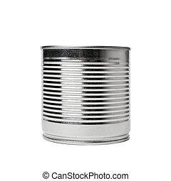 錫, 白い背景, 缶