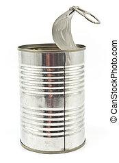 錫, 開いた, 缶, 空