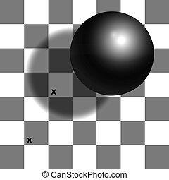 錯覚, チェッカーの駒, 影, チェス盤