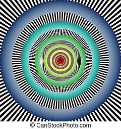 錯覚, 目である