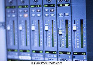 録音, オーディオ, スタジオ
